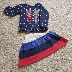 H&M bundle! Toddler girl shirt and skirt